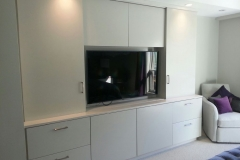 White tv cabinet master bedroom